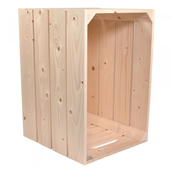 Caisse en bois S4 . L36 x H40 x P54 cm - Made in France & éco-responsable