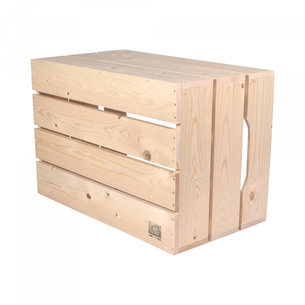 Caisse en bois S3 . L36 x H30 x P54 cm - Made in France & éco-responsable