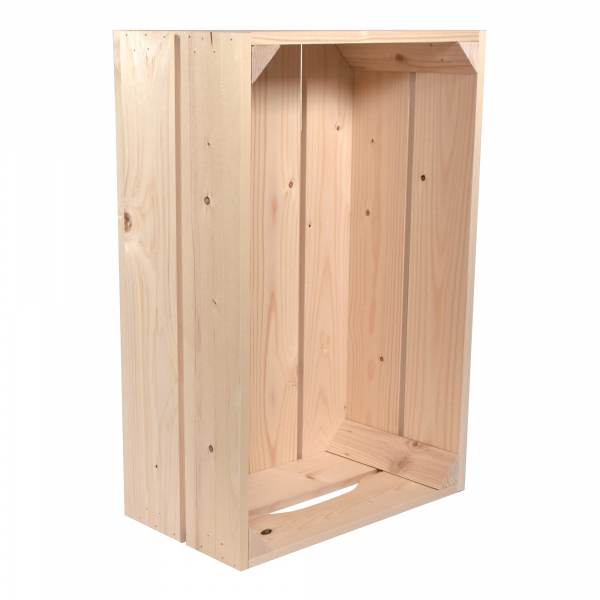 Caisse en bois S2 . L36 x H20 x P54 cm - Made in France & éco-responsable
