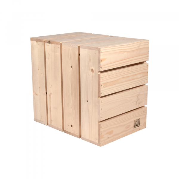 Caisse en bois L4 . L36 x H40 x P27 cm - Made in France & éco-responsable