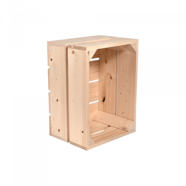 Caisse en bois L2 . L36 x H20 x P27 cm - Made in France & éco-responsable