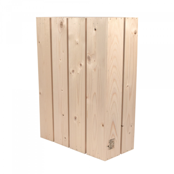 Caisse en bois H4 . L18 x H40 x P54 cm - Made in France & éco-responsable