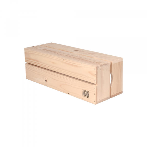 Caisse en bois H2 . L18 x H20 x P54 cm - Made in France & éco-responsable
